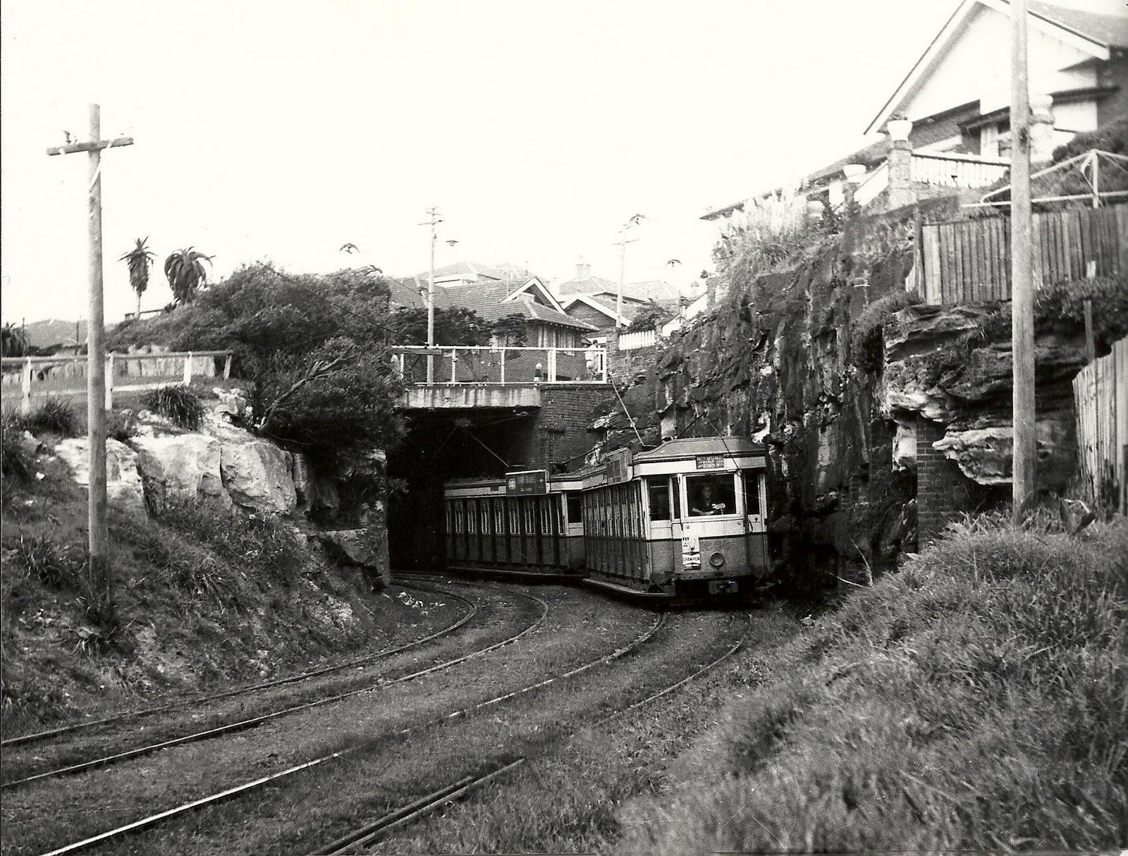 A tram to bondi beach