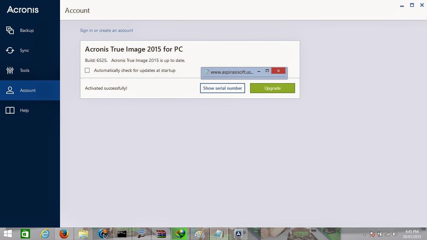 Acronis True Image 2015 Full Serial Number - MirrorCreator