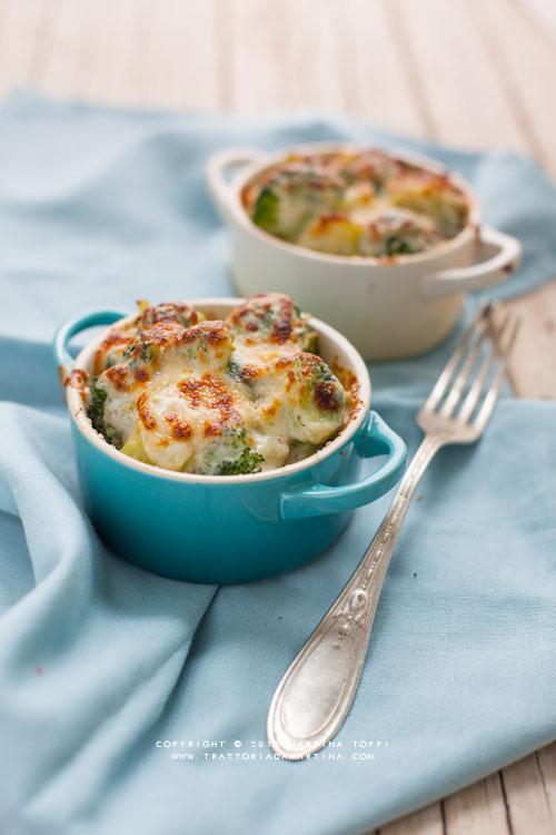 Broccoli gratinati alla besciamella