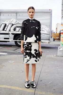 Givenchy FW13 Black and white animal print