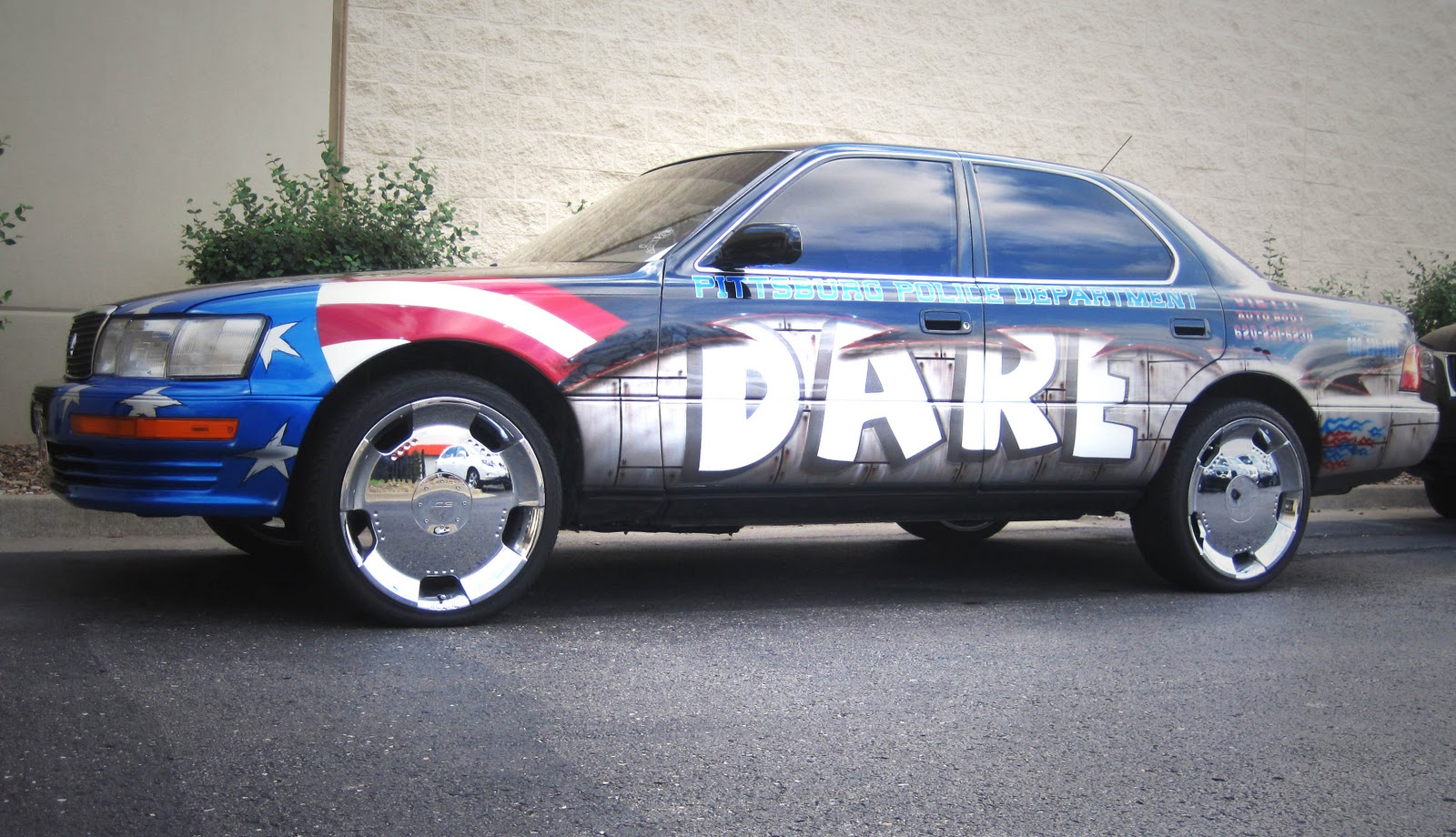 Check Out The Pittsburg Kansas Police Dept DARE Vehicle That Made Itu0027s Way  To Our Service Center This Month! It Was Confiscated By The Police Dept  From An ...