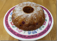 apple, orange and cranberry cake