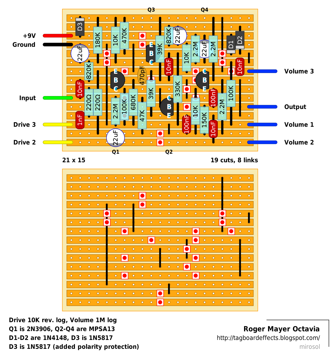 Guitar Fx Layouts February 2014 Heres A Closeup Of The Wah Circuit Mr Mayer Has Chronological History Octavia Octavio Posted On His Site So Read More About It Here
