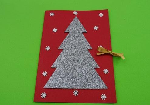 tarjeta rbol de navidades