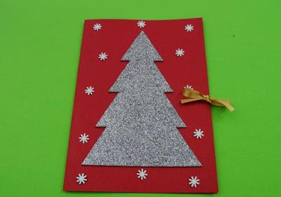 El arte de educar tarjetas de navidad con goma eva - Hacer postales navidad ...