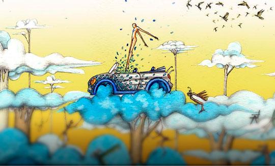 Ilustración, Sueño de un día de verano de Adrián Estrada aka NautiloRojo