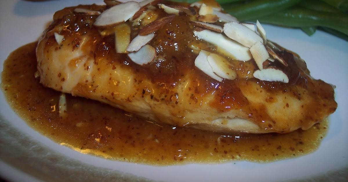 Savory Moments: Apricot glazed chicken with almonds