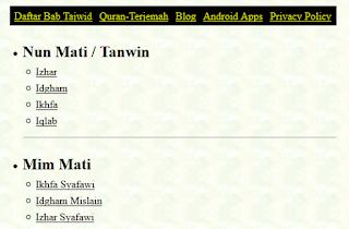 Situs Beserta Aplikasi yang Cocok untuk Belajar Tajwid