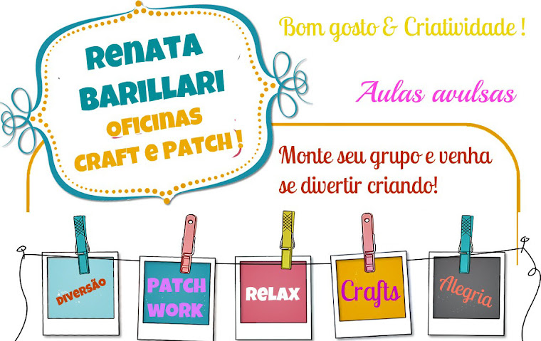 Renata Barillari Oficinas Craft , Patch e Gourmet!