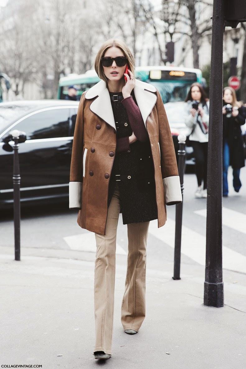 Pantalones de campana Olivia Palermo street style 2015