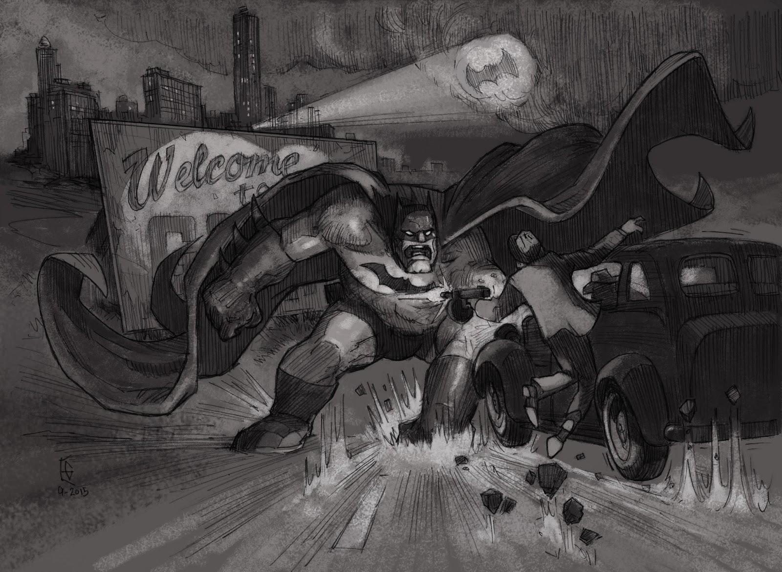 Bat Hulk Pencil Finish Tone