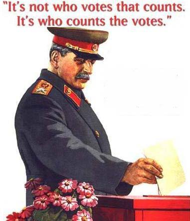 Stalin counting votes