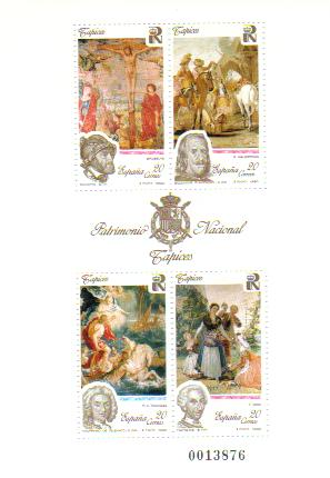 1990年スペイン サルーキ or グレーハウンドの切手シート