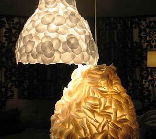 Luminárias decoradas com feltro - passo a passo