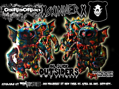 OsirisOrion x Skinner x Deadbear Studios Oil Slick Outsider Resin Figures