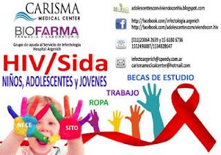 Ayuda para niños, adolescentes y jovenes que nacieron y conviven con HIV/Sida
