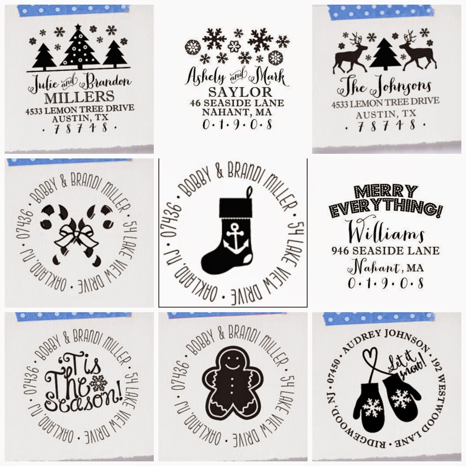 Holiday stamp giveaway from Brittany Lauren Design