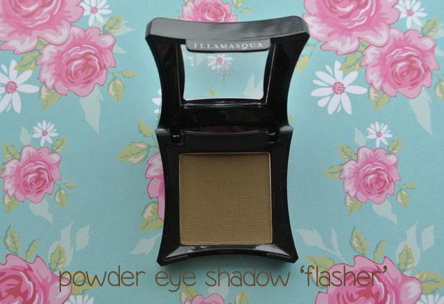 illamasqua mystery box swatch eye shadow flasher
