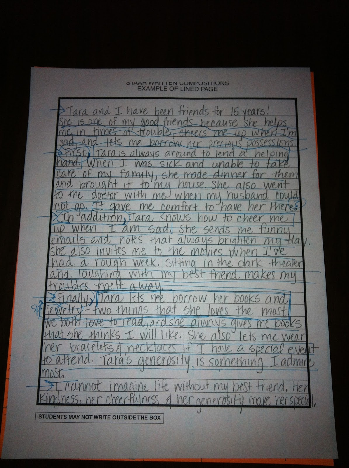 staar expository essay lined paper O meaningful transitions in expository essays  staar expository student composition released by tea, score 4  page 6 page 7 being a good reader reading is terrific it is important in many ways like it helps you know how to say words faster with punctuation and adjectives it makes you.