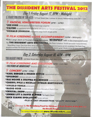 DISSIDENT ARTS FESTIVAL 2012