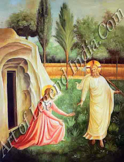 "The Great Artist Fra Angelico Painting ""Noli Me Tangere"" c.1441-45 Fresco 69"" x 54"" Monastery of San Marco, Florence"