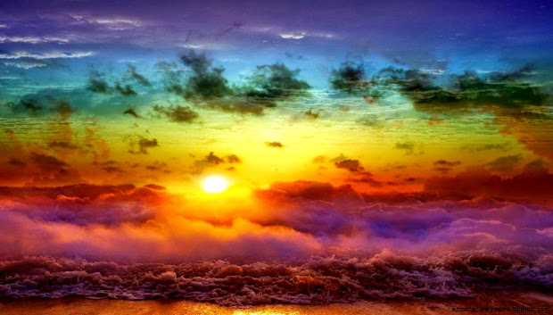 landscape colors sky wide wallpaper