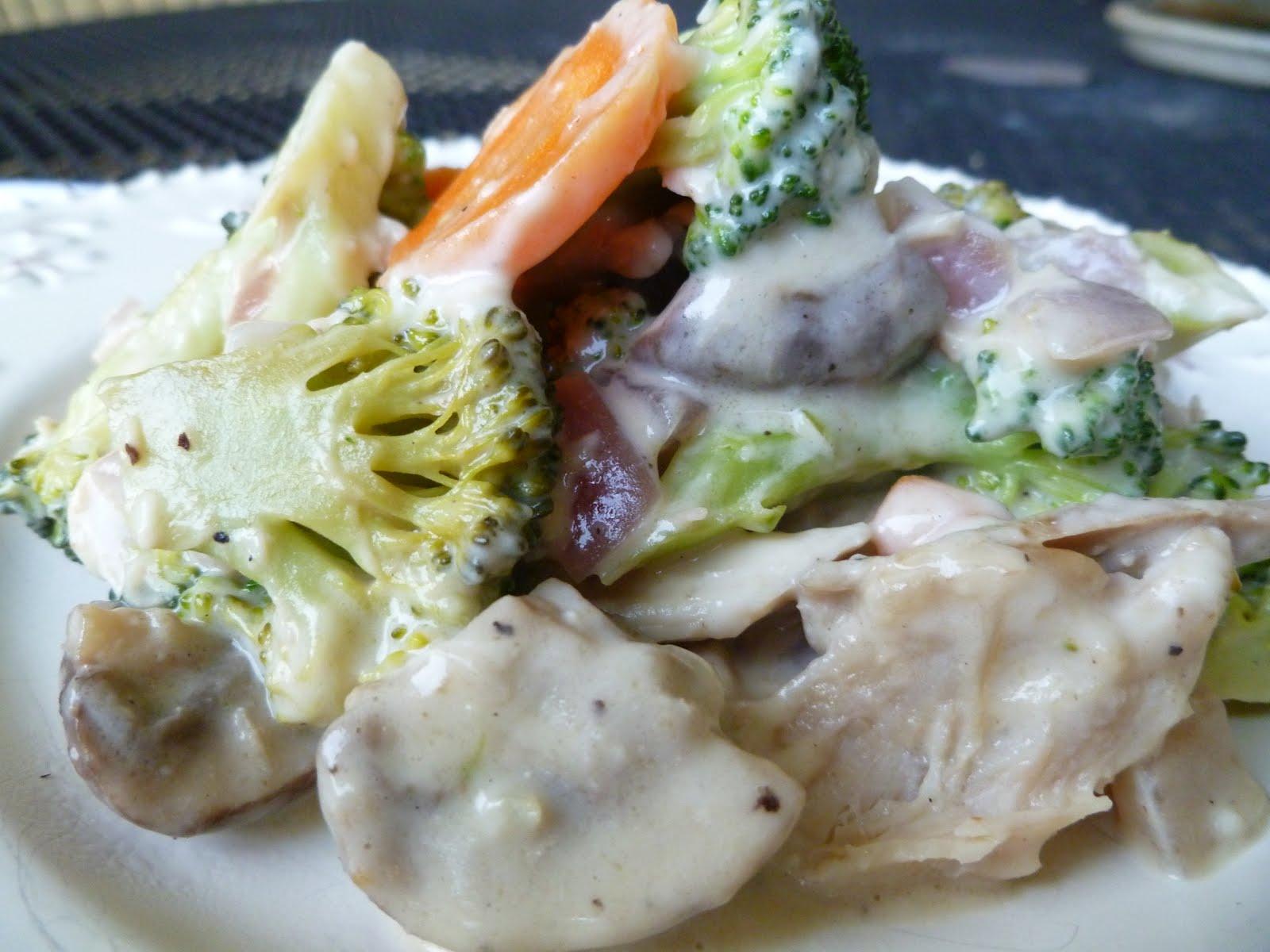 Chicken and Veggie Alfredo (dairy free)