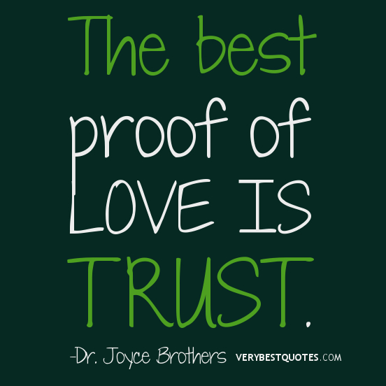 the best proof of love is trust - Inspirational Positive Quotes with Images