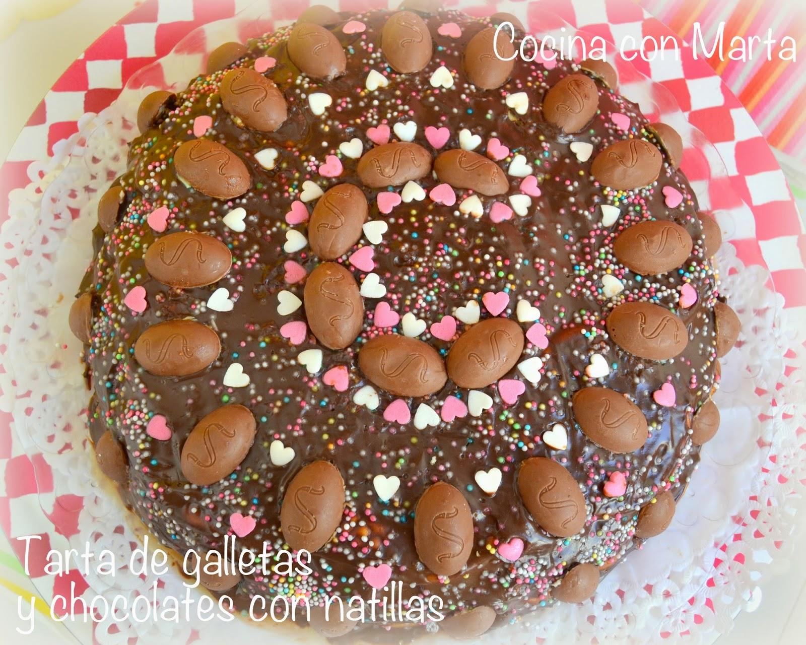 Tarta De Galletas Y Chocolate Con Natillas Cocinaconmartacom - Tartas-de-cumpleaos-sencillas-y-originales