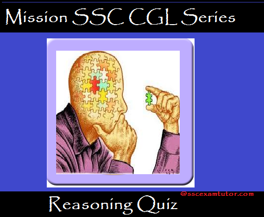 Reasoning Quiz for SSC CGL, SSC CHSL, SSC CPO