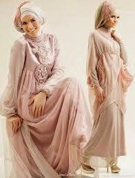 gaun pengantin muslimah terkini