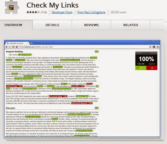 Check my Links  Extension Google Chrome