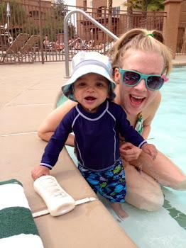 Lyndsay and Elijah at the Pool