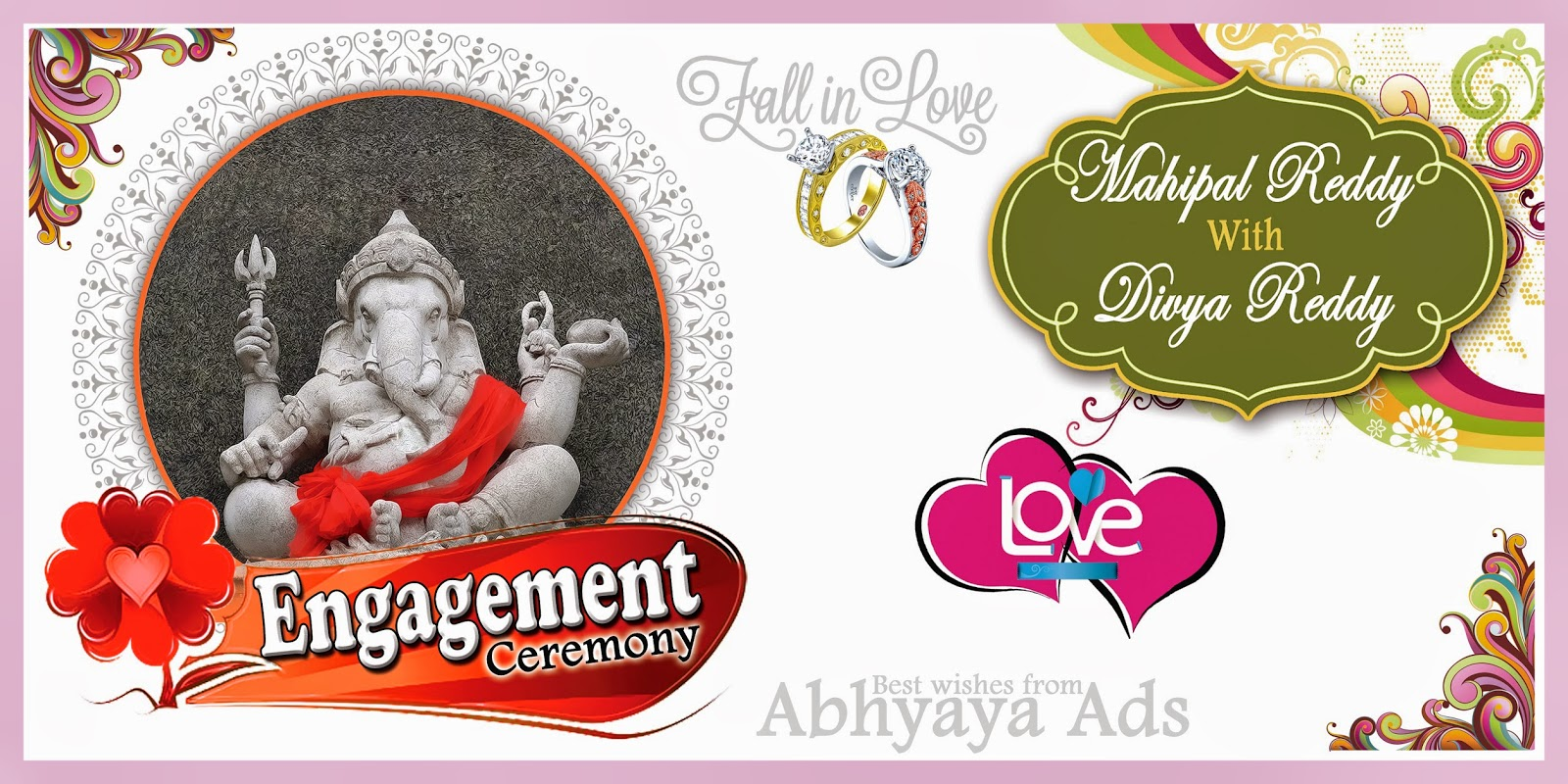 Digital banner design for psd files - Marriage Flex Banner Deisgn Sample For Photoshop Users