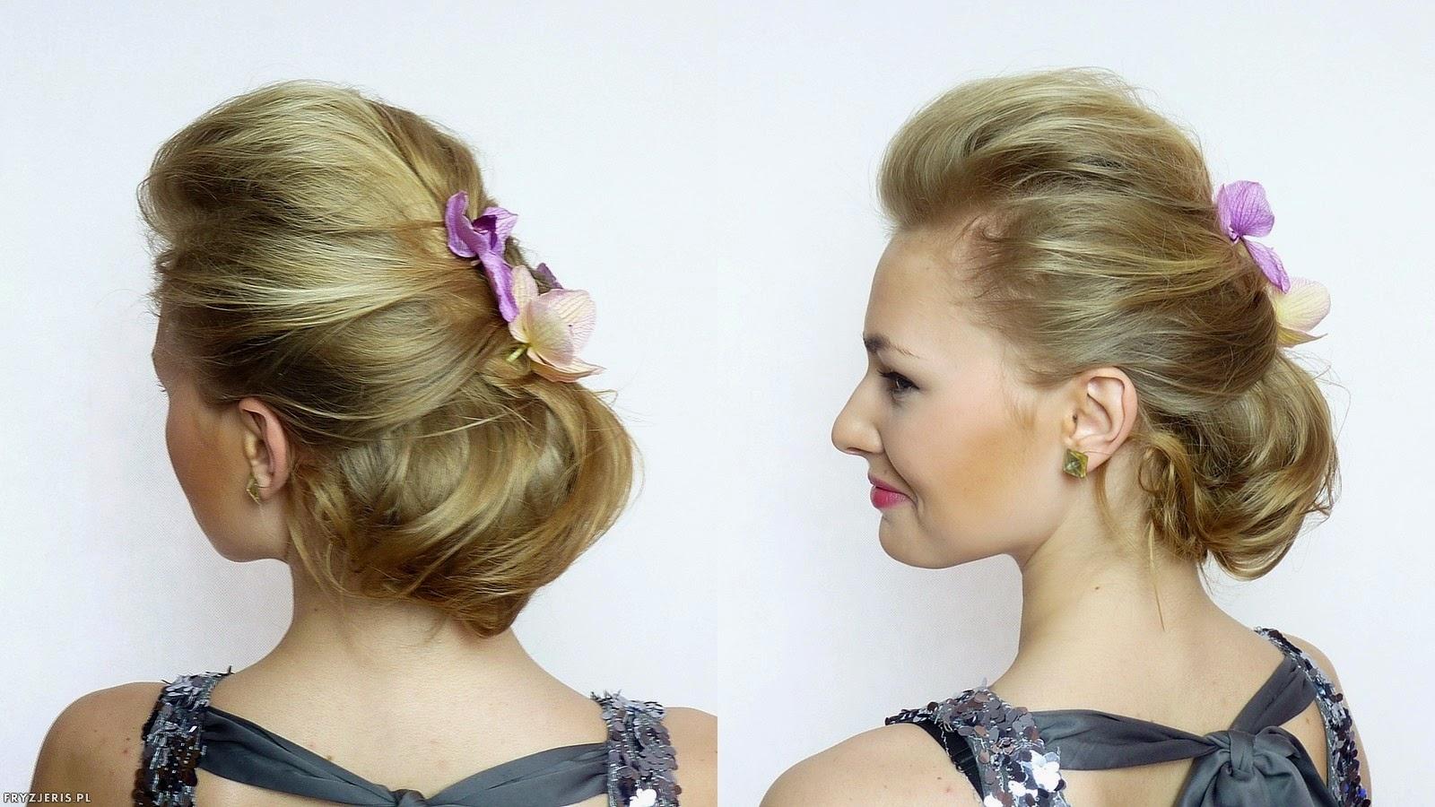 fryzura ślubna odsłaniająca twarz 4