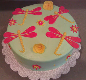 Dragonflies (Buttercream w Fondant Decor)