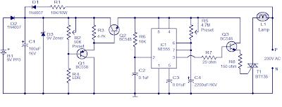 Automatic Night Light Circuit using NE555 | Diagram wiring jope