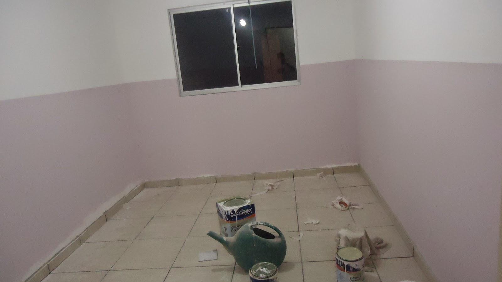 Nossa Casa de Juntados Acabamentos na reta final!! ~ Revestimento Para Meia Parede De Quarto