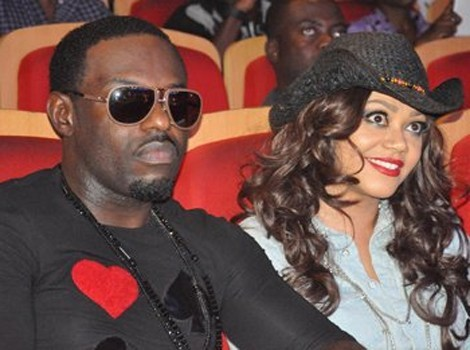 Jim iyke's outfit screams LOVE as he is spotted with Nadia Buari