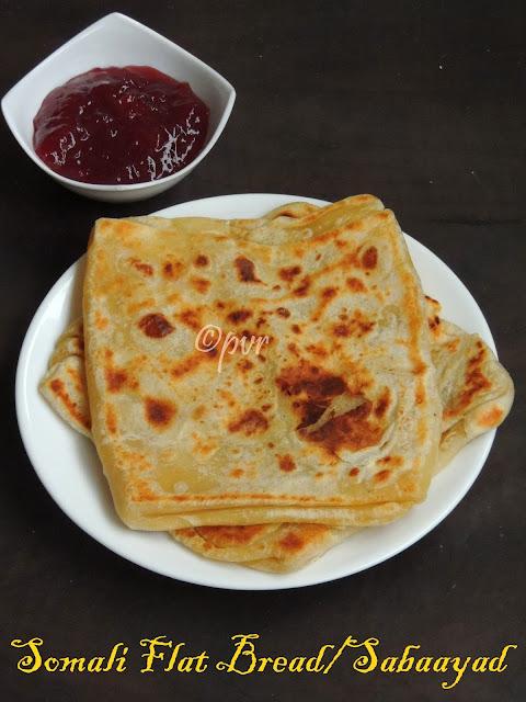 Somalian Flat Bread, Sabaayad