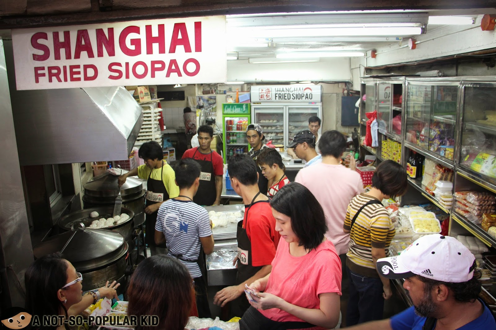 In the busy street of Ongpin lies a humble place that sells Fried Siopao