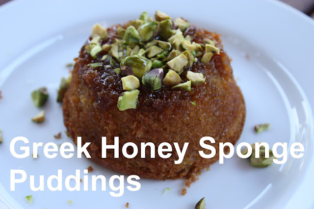 Greek honey sponge pudding recipe