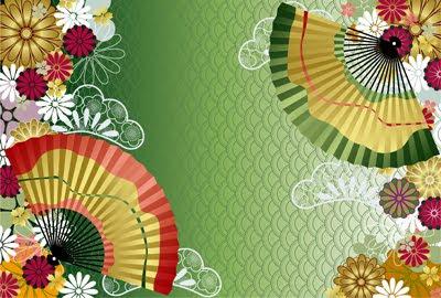 Wallpaper de patrón tradicional japonés (Ilustración Vectorial)