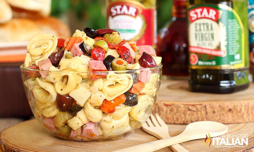http://www.theslowroasteditalian.com/2014/07/muffaletta-tortellini-salad-recipe.html