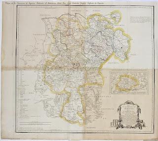 Mapa de la Provincia de Segovia. Dedicado al Serenísimo Señor Don Luis Antonio Jayme, Infante de España. 1773