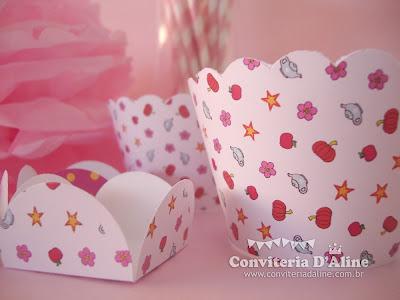 wrappers personalizados decoração festa princesas