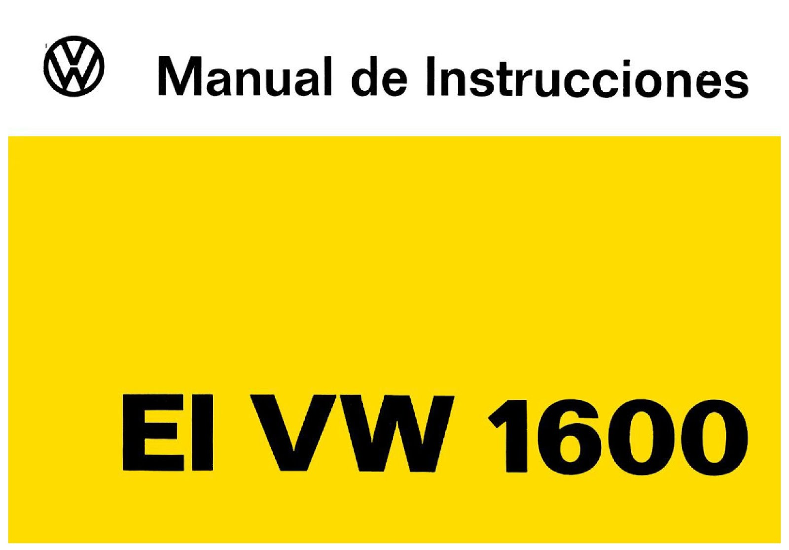MANUAL VW VOCHO 1600 1976