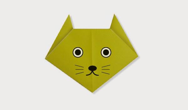 Hướng dẫn cách gấp Mặt con Mèo giấy - Xếp hình Origami với Video clip