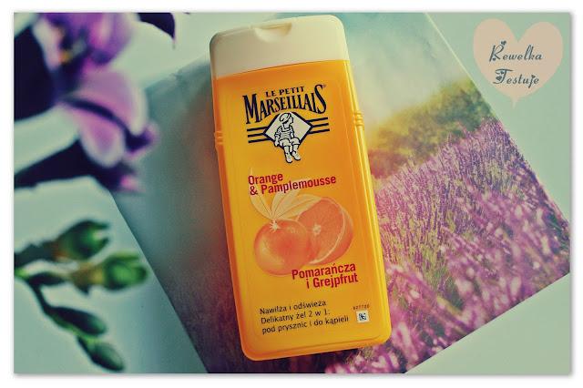 Pomarańcza i Grejpfrut: delikatny żel pod prysznic i do kąpieli 2w1  od Le Petit Marseillais