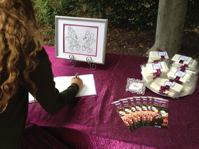 Disneyland Wedding - Welcome Table